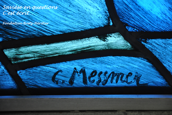 10_Chandolin, vitrail de la chapelle