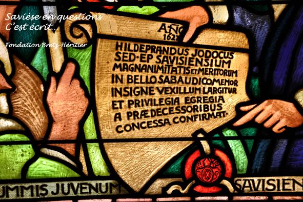 41_Eglise, vitrail du drapeau